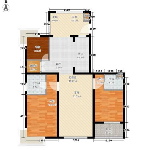 中邦城市3室0厅2卫0厨131.00㎡户型图