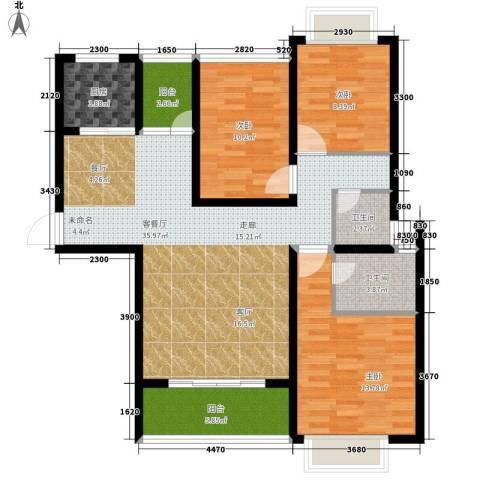 格澜郡3室1厅2卫1厨122.00㎡户型图