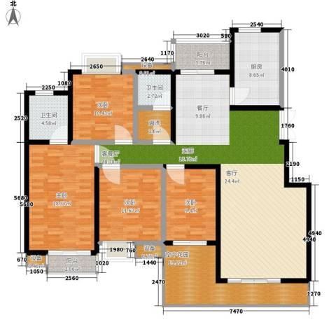 西子湖畔4室1厅2卫1厨160.00㎡户型图