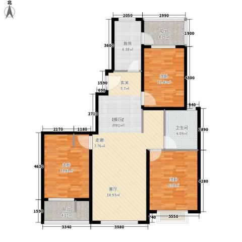 中邦城市3室0厅1卫1厨138.00㎡户型图
