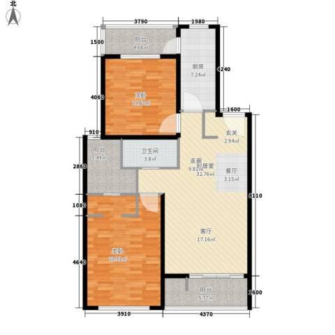 中邦城市2室0厅1卫1厨105.00㎡户型图