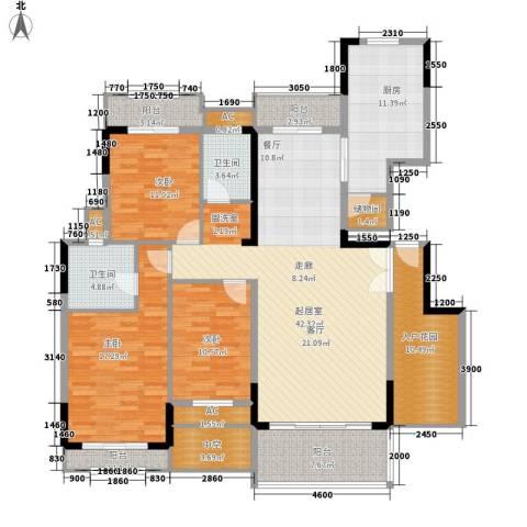 信基城3室0厅2卫1厨158.00㎡户型图