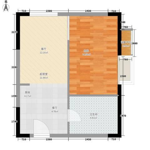 广博苑1室0厅1卫0厨48.00㎡户型图