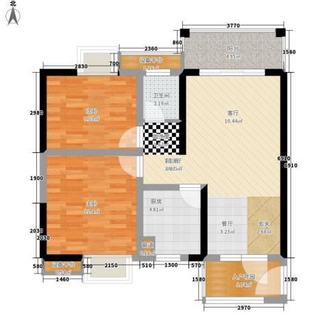 高鑫巴比伦花园2室1厅1卫1厨85.00㎡户型图