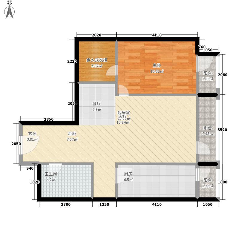 华贸国际公寓80.66㎡E座08型面积8066m户型