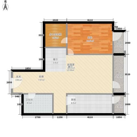 华贸国际公寓1室0厅1卫1厨81.00㎡户型图