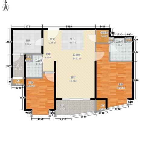 莱诗邸2室0厅2卫1厨128.00㎡户型图