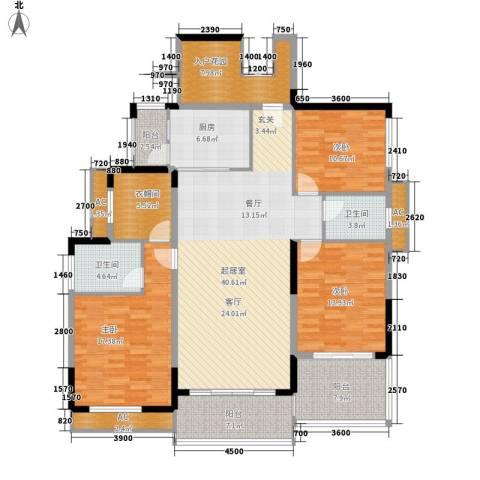 信基城3室0厅2卫1厨150.00㎡户型图
