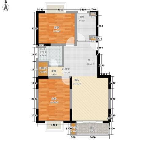 润・花园2室0厅1卫1厨89.00㎡户型图