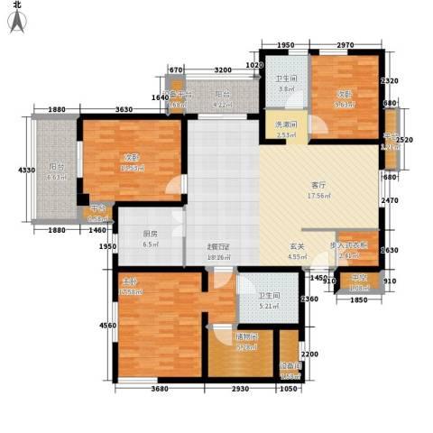 莫愁大厦3室0厅2卫1厨139.00㎡户型图