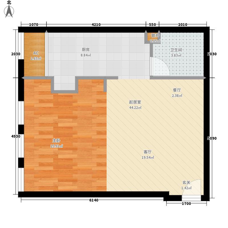 御湖国际54.93㎡一期B楼标准层b面积5493m户型