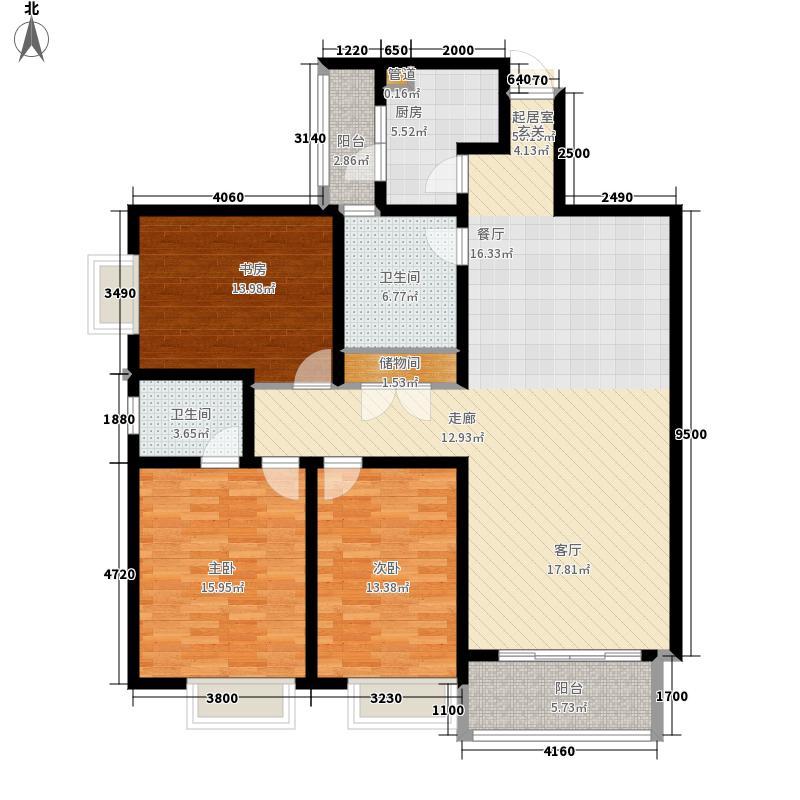 国信利德家园136.00㎡面积13600m户型