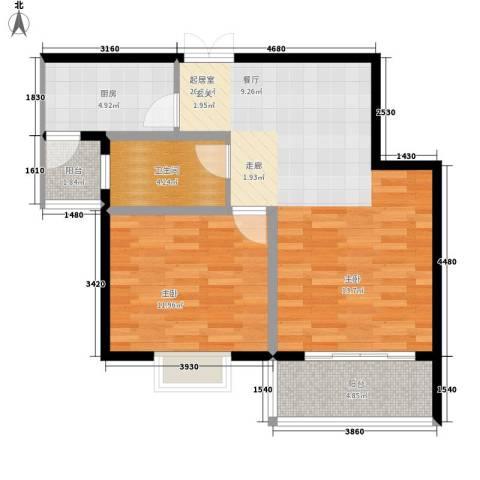 中南・麒麟锦城1室0厅1卫1厨65.00㎡户型图