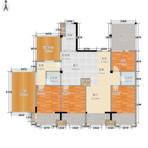 圣日华庭4室0厅2卫1厨195.00㎡户型图