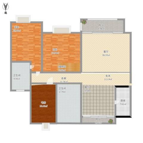 御庭苑3室1厅2卫1厨214.00㎡户型图