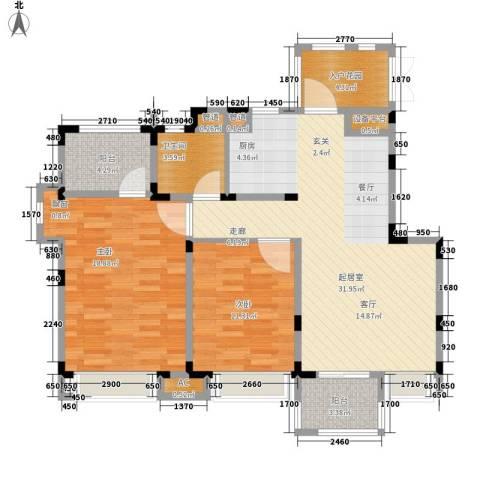 南山雨果2室0厅1卫0厨90.00㎡户型图