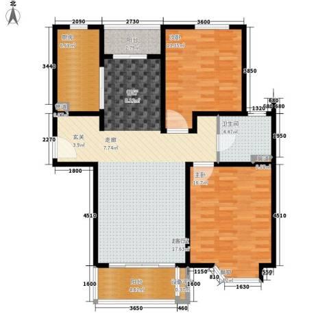 绿地崴廉公寓二期2室0厅1卫1厨122.00㎡户型图