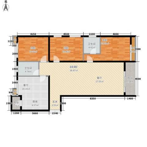 大唐天下江山3室1厅2卫0厨168.00㎡户型图