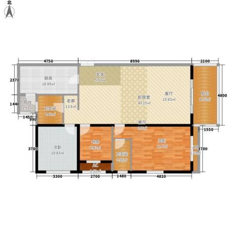 大唐天下江山3室0厅2卫1厨152.00㎡户型图