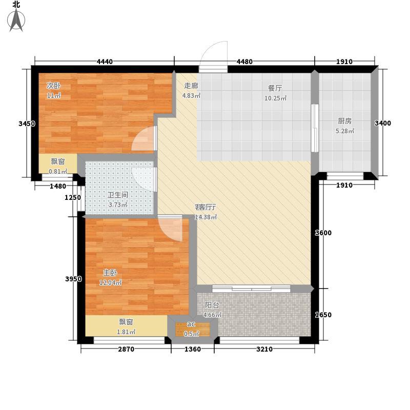 中国铁建国际城90.00㎡7#楼G户型2室2厅