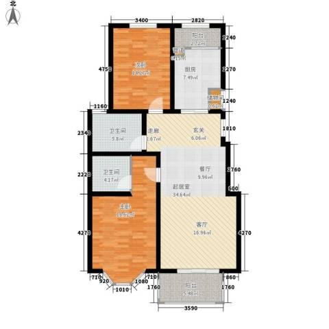 北京太阳城2室0厅2卫1厨111.00㎡户型图