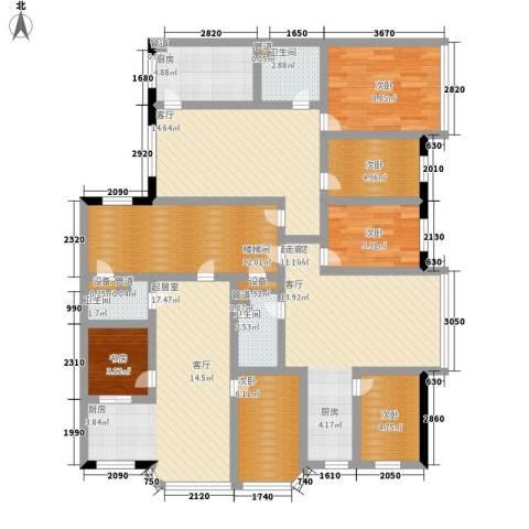 江腾苑6室1厅3卫1厨162.00㎡户型图