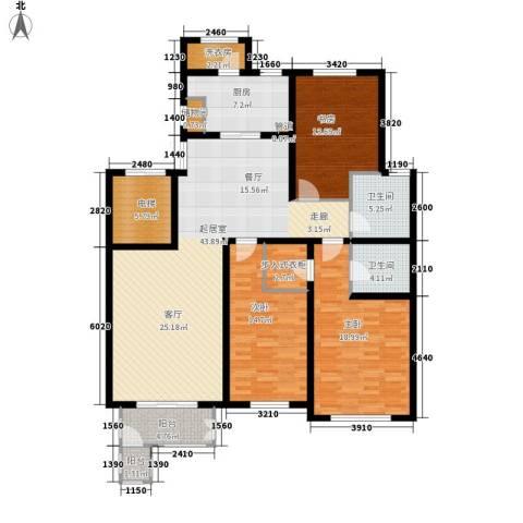 北京太阳城3室0厅2卫1厨146.00㎡户型图