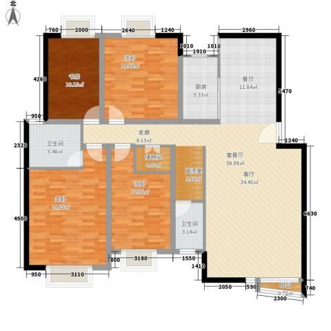 碧云山庄4室1厅2卫1厨145.00㎡户型图