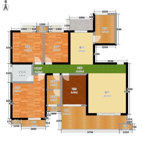西子湖畔4室1厅3卫1厨150.00㎡户型图