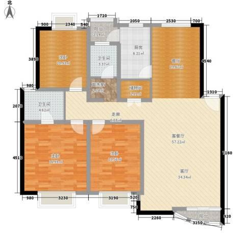 碧云山庄3室1厅2卫1厨134.00㎡户型图