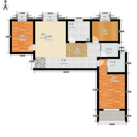 浦洲花园3室0厅2卫1厨138.00㎡户型图