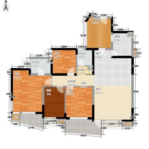 金基蓝钻4室0厅2卫1厨146.00㎡户型图