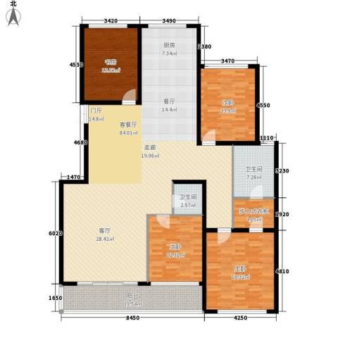 金花园4室1厅2卫0厨186.00㎡户型图
