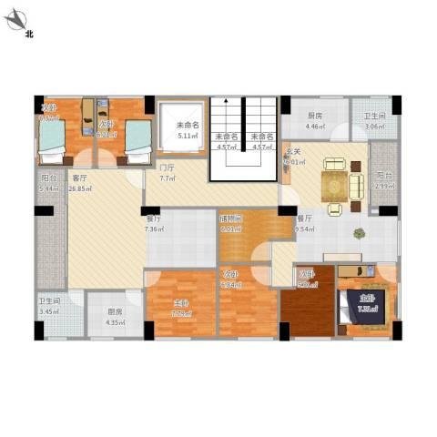 公明大围农民房6室1厅2卫1厨188.00㎡户型图