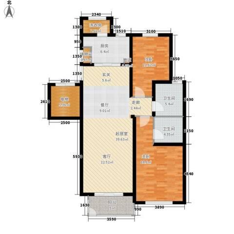 北京太阳城2室0厅2卫1厨119.00㎡户型图