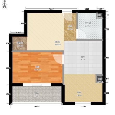 紫薇花园1室1厅1卫0厨67.00㎡户型图