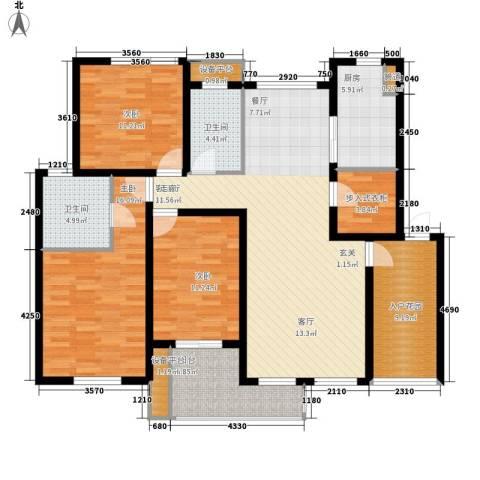 奥林匹克花园3室1厅2卫1厨126.52㎡户型图