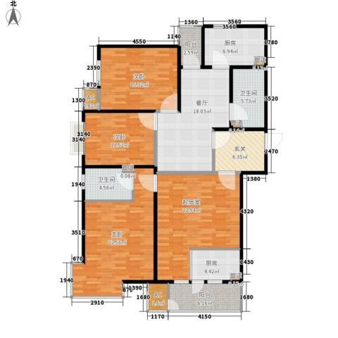 国大全城3室1厅2卫2厨146.00㎡户型图