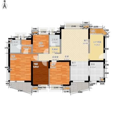 金基蓝钻4室0厅2卫1厨141.00㎡户型图