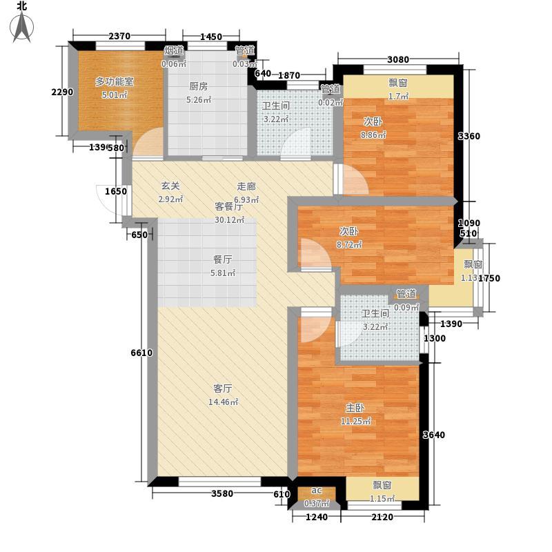 保利上城高层A3户型4室2厅