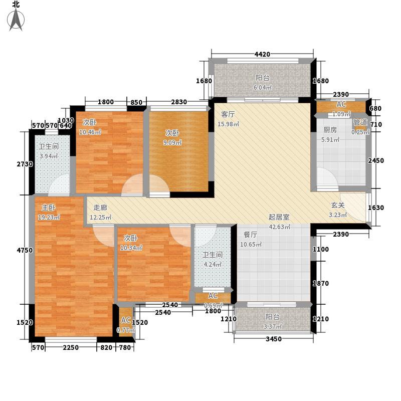 绿茵温莎堡香堤135.00㎡114幢01/04户型4室2厅