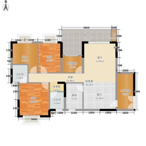 鸿基橄榄君庭3室0厅2卫1厨177.00㎡户型图