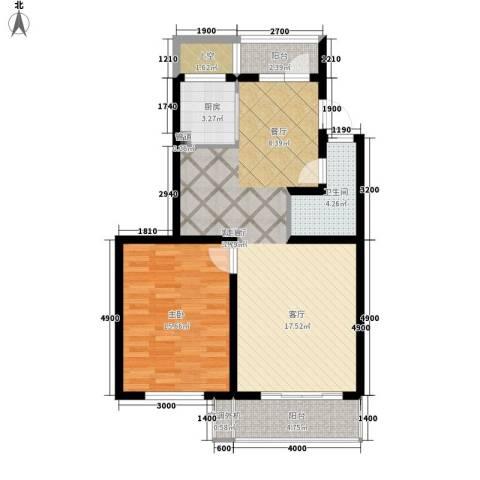 欣乐新村1室1厅1卫1厨96.00㎡户型图