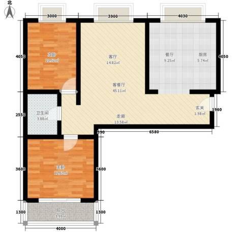 金花园2室1厅1卫0厨95.00㎡户型图