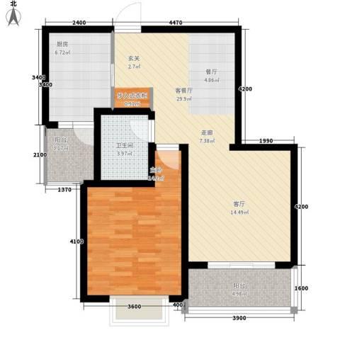 金花园1室1厅1卫1厨90.00㎡户型图
