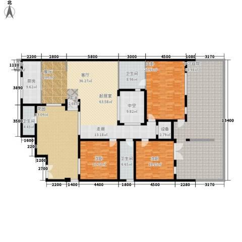 无庶3室0厅3卫1厨364.00㎡户型图