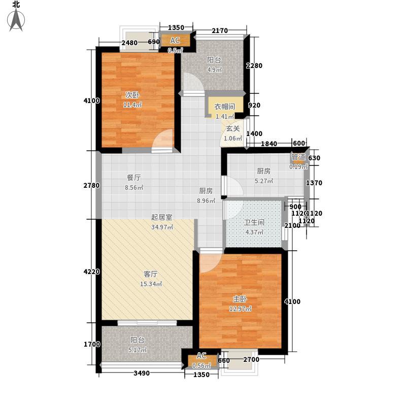 万江共和新城113.00㎡二期24幢标准层D户型