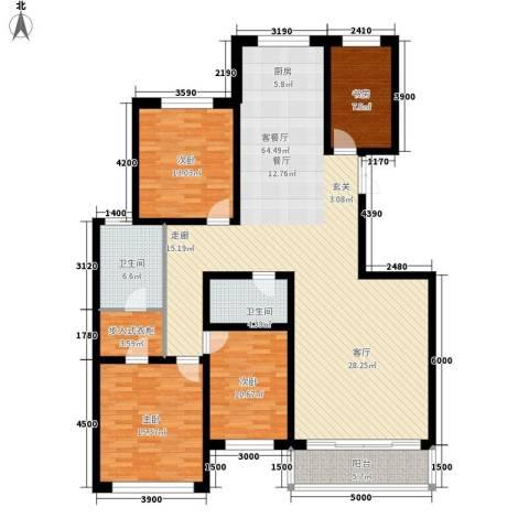 金花园4室1厅2卫0厨178.00㎡户型图