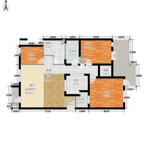 无庶3室0厅2卫1厨155.00㎡户型图