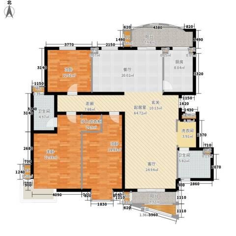 北京太阳城3室0厅2卫1厨175.00㎡户型图